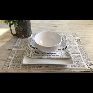 Kate Spade New York Journal placemats and napkins